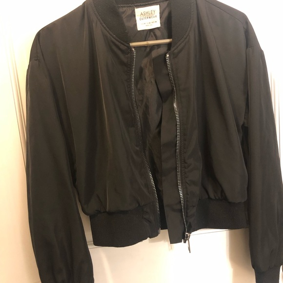 Ashley By 26 International Jackets & Blazers - Ashley Outerwear Black Bomber Jacket